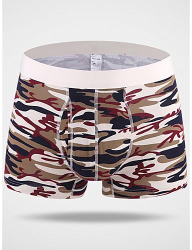 voordelige Herenondergoed & Zwemkleding-Print Boxer Heren Medium Taille