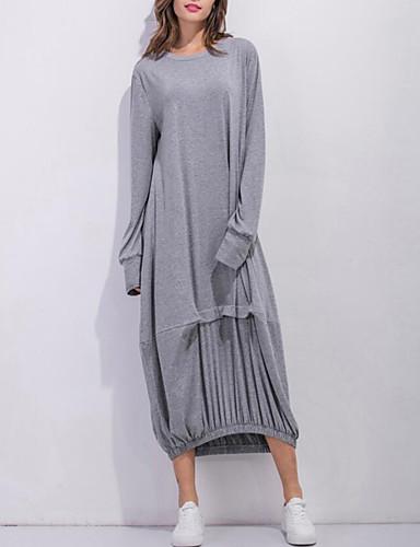 levne Maxi šaty-Dámské Šik ven Elegantní A Line Šaty - Jednobarevné, Plisé Maxi