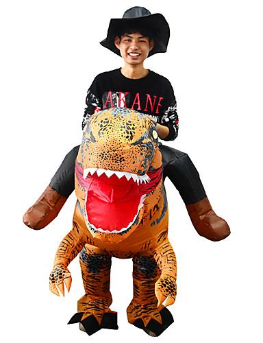 preiswerte Spielzeug & Hobby Artikel-Dinosaurier Aufblasbare Kostüme Erwachsene Herrn Halloween Halloween Fest / Feiertage Rayon / Polyester Braun Herrn Damen Karneval Kostüme / Gymnastikanzug / Einteiler / Zusätzliche Batteriekasten