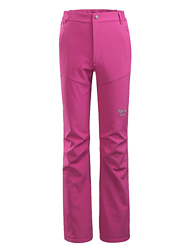 cheap Hiking Trousers & Shorts-Women's Hiking Pants Solid Color Summer Winter Outdoor Windproof Breathable Quick Dry Warm Pants / Trousers Bottoms Black Fuchsia Burgundy Blue Hunting Fishing Climbing S M L XL XXL / Wear Resistance
