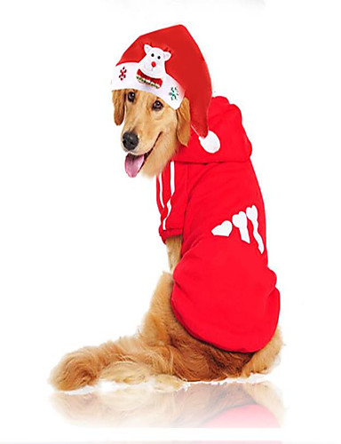 preiswerte Spielzeug & Hobby Artikel-Nagetiere Hunde Katzen Kapuzenshirts Bandanas & Mützen Winter Hundekleidung Weiß Rot Weihnachten Kostüm Husky Shih Tzu Zwergpudel Poly /  Baumwollmischung Cartoon Design Klassisch Weihnachten