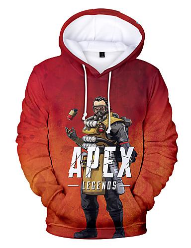 povoljno Maske i kostimi-Apex legende Student / Školska uniforma Cosplay Nošnje Hoodie Polyster Print Za Muškarci / Žene