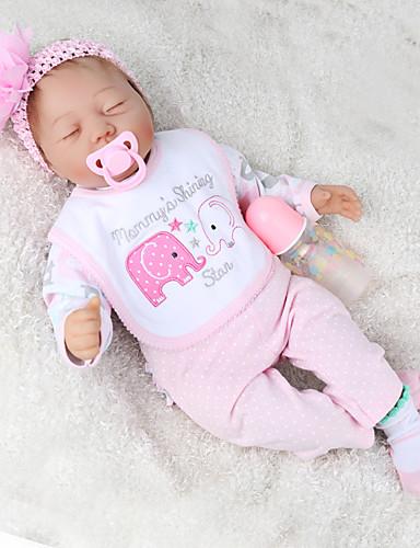 preiswerte Spielzeug & Hobby Artikel-NPK DOLL Lebensechte Puppe Wiedergeborene Kleinkind-Puppe Baby Jungen Baby Mädchen 22 Zoll Geschenk Niedlich Kinder Unisex Spielzeuge Geschenk