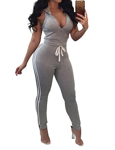povoljno Odjeća za fitness, trčanje i jogu-Žene Prednji Zipper Kombinezon za vježbanje Color block Yoga Fitness Trening u teretani Kombinezon Bez rukávů Odjeća za rekreaciju Prozračnost Ovlaživanje Quick dry Butt Lift Visoka elastičnost Slim