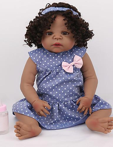 preiswerte Spielzeug & Hobby Artikel-NPK DOLL Lebensechte Puppe Wiedergeborene Kleinkind-Puppe Baby Jungen Baby Mädchen 22 Zoll Silikon - Sicherheit Geschenk Niedlich Kinder Unisex / Mädchen Spielzeuge Geschenk