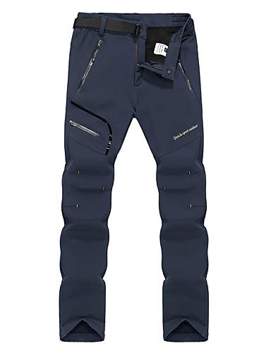 cheap Hiking Trousers & Shorts-Men's Hiking Pants Softshell Pants Outdoor Thermal / Warm Waterproof Windproof Fleece Lining Winter Softshell Pants / Trousers Bottoms Ski / Snowboard Climbing Camping / Hiking / Caving Black Dark