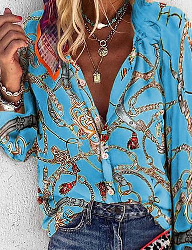 billige Dametopper-Skjorte Dame - Geometrisk Lilla