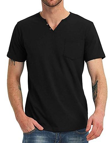 levne Pánská tílka-Pánské - Jednobarevné Základní Tričko Černá