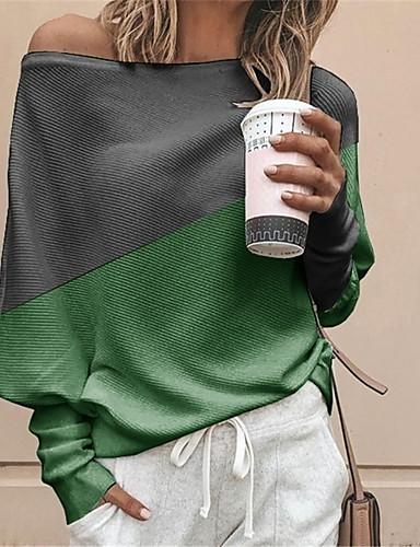 billige Dametopper-T-skjorte Dame - Fargeblokk Hvit