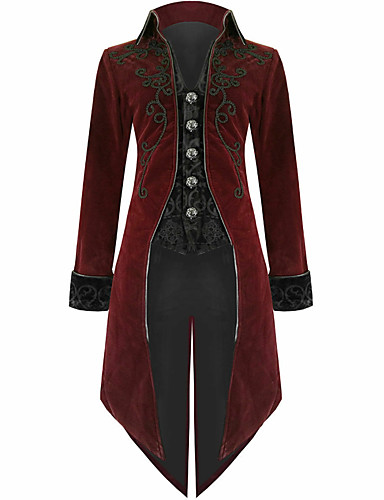 voordelige Herenblazers & kostuums-Heren Blazer, Kleurenblok Overhemdkraag Polyester Wijn