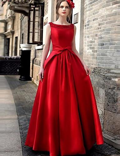 Жен. С летящей юбкой Платье - Однотонный Макси