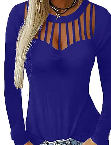 billige Bluser-Løstsittende T-skjorte Dame - Ensfarget Svart