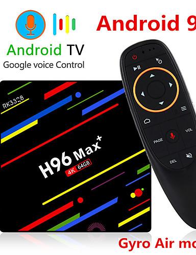preiswerte Audio & Video für Ihr Zuhause-h96 max plus sprachsteuerung smart tv box android 9.0 rk3328 4 karat media player quadcore 4 gb ram 64 gb rom android 8.1 rockchip set top box 2,4 g / 5 g wifi h.265 h96max + tvbox usb3.0 bt