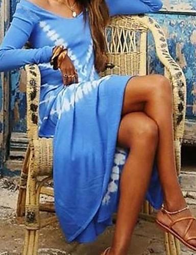 Жен. С летящей юбкой Платье - Абстракция Макси