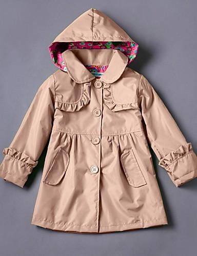preiswerte AutumnSaleBestSellers-Kinder Mädchen Grundlegend Solide Trenchcoat Purpur