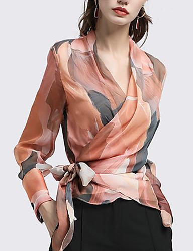 billige T-skjorter til damer-T-skjorte Dame - Geometrisk, Flettet Gatemote Brun