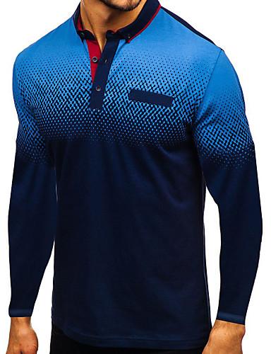 billige Poloskjorter til herrer-Polo Herre - Fargeblokk Svart