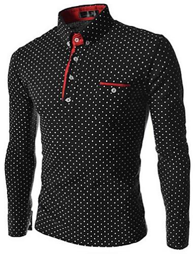 levne Pánská polo trika-Pánské - Jednobarevné / Puntíky Business / Elegantní Polo Černá