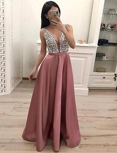 levne Maxi šaty-Dámské Pouzdro Šaty - Jednobarevné Maxi