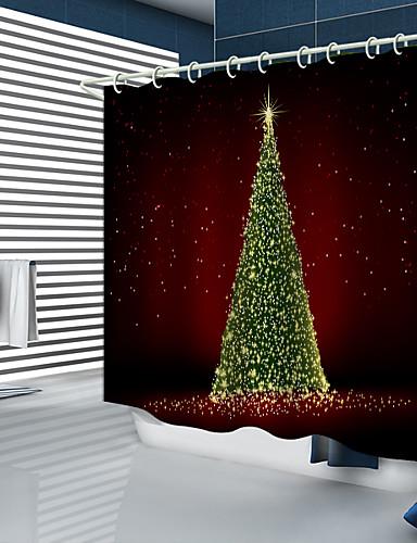 povoljno Božićna kupaonica-Tuš zavjese i kuke Moderna Poliester New Design