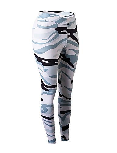 povoljno Vježbanje, fitness i joga-Žene Hlače za jogu kamuflaža Elastan Trčanje Fitness Trening u teretani 3/4 Capri hlače Odjeća za rekreaciju Prozračnost Ovlaživanje Quick dry Butt Lift Visoka elastičnost Uske