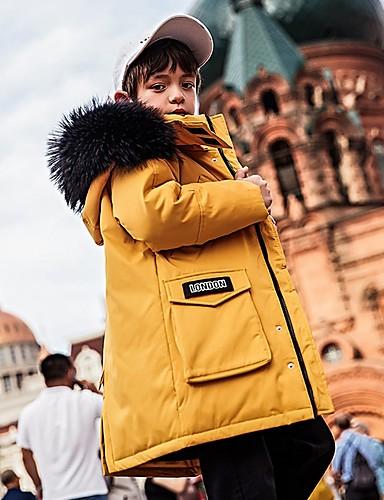preiswerte Mode für Jungs-Kinder Jungen Grundlegend Solide Daunen & Baumwoll gefüttert Schwarz