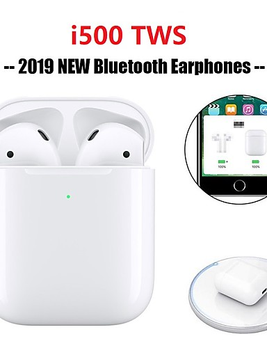 cheap Re11.11-The Most Popular Bluetooth Headphones-Original i500 TWS True Wireless Earbuds Bluetooth 5.0 Support Qi Wireless Charge Pop Up Window with iOS Auto Pairing Mini Touch Control Headphone Sport Outdoor