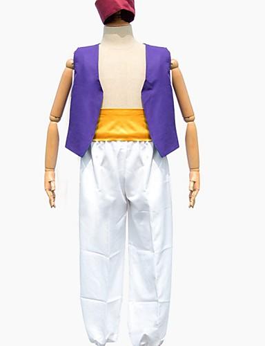 povoljno Maske i kostimi-Inspirirana Aladin i čarobna svjetiljka Aladdin Anime Cosplay nošnje Japanski Cosplay Tops / Bottoms Top / Hlače / Šešir Za Muškarci