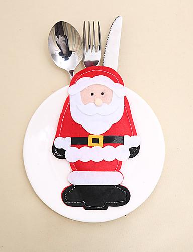 preiswerte Weihnachten Küche-weihnachtsmann besteck tasche weihnachtsdekoration / weihnachtsschmuck neujahr