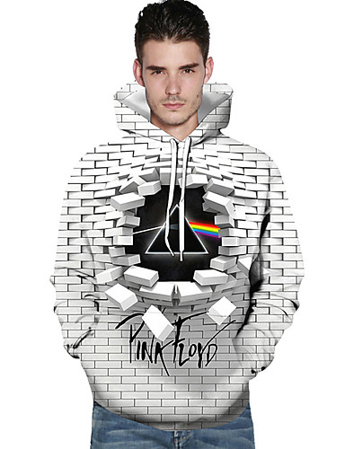 povoljno Cosplay za svaki dan-Dragon Ball Cosplay Pink Floyd Knit & Cutsew Hoodie 100% poliester 3D Za Muškarci / Žene