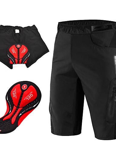 povoljno Odjeća za vožnju biciklom-WOSAWE Muškarci Biciklističke kratke hlače s jastučićima Biciklističke kratke hlače Kratke hlače za MTB Bicikl Podstavljene kratke hlače Kratke hlače za MTB Prozračnost Pad 3D Quick dry Sportski