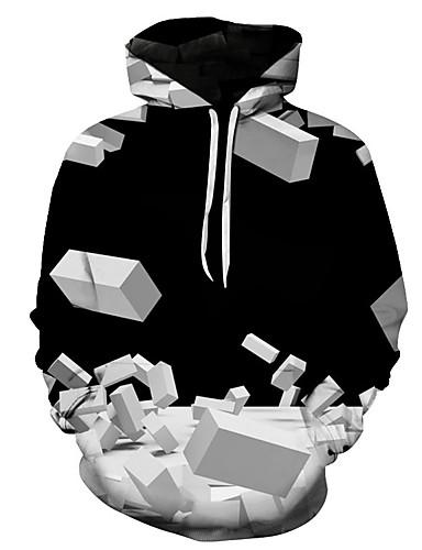 Homens Casual / Básico Moletom 3D