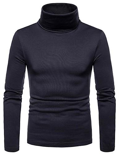 voordelige Uitverkoop-Heren Vintage / Elegant T-shirt Effen Zwart