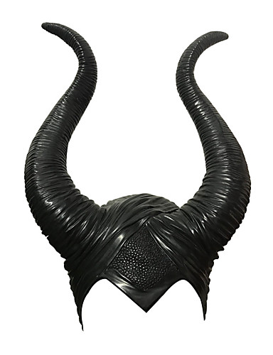 cheap Halloween Masks-Witch Maleficent Masquerade Headwear Adults' Men's Cosplay Halloween Halloween Carnival Masquerade Festival / Holiday Glue Black Men's Women's Easy Carnival Costumes Solid Colored / Hat / Hat