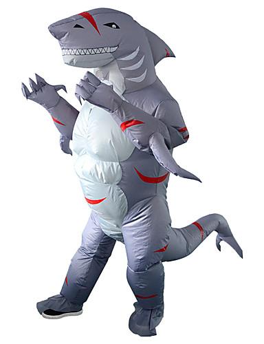 povoljno Maske i kostimi-Shark Kostim na napuhavanje Odrasli Muškarci Halloween Halloween Festival / Praznik Rayon / poliester Sive boje Muškarci Žene Karneval kostime / Hula-hopke / Onesie / Dodatna baterija kutija