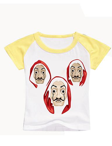 Lapset Taapero Poikien Perus Painettu Painettu Lyhythihainen T-paita Musta