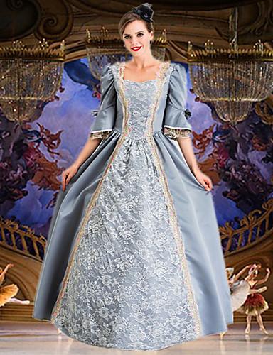 voordelige Maxi-jurken-Dames Elegant Wijd uitlopend Jurk - Bloemen, Print Maxi