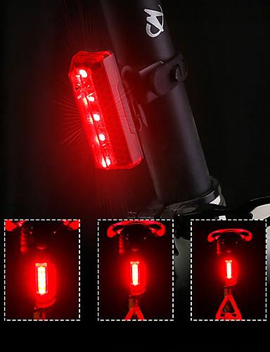 billige Sykling-LED Sykkellykter Baklys LED Fjellsykling Sykkel Sykling Fort Frigjøring Fargegradering Li-polymer 70 lm Oppladbart Batteri Rød Sykling / 360° rotasjon