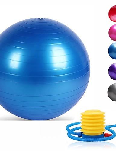 povoljno Vježbanje, fitness i joga-95cm Lopta za vježbu / lopta za jogu Profesionalna, Sa zaštitom od eksplozije, Nježno PVC podrška 500 kg S Pumpa za stopalo Trening ravnoteže Za Yoga / Pilates / Fitness