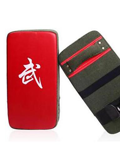povoljno Vježbanje, fitness i joga-Mete za borilačke sportove Za Taekwondo Boks Obrazac Fit PU koža Crno-crvena