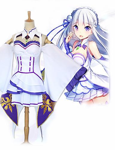 povoljno Anime cosplay-Inspirirana Re: Zero - početak života u drugom svijetu Cosplay Anime Cosplay nošnje Japanski Cosplay Suits Suknja / Čarape / Šeširi Za Žene / Djevojčice