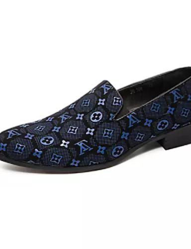preiswerte Oxfordschuhe für Herren-Herrn Komfort Schuhe PU Sommer Outdoor Schwarz / Braun / Blau / Draussen