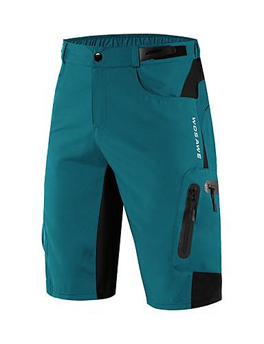 povoljno Odjeća za vožnju biciklom-WOSAWE Muškarci Biciklističke kratke hlače Kratke hlače za MTB Bicikl Hlače Kratke hlače za MTB Donji Prozračnost Ovlaživanje Quick dry Sportski Spandex Crn / Tamno zelena / žuta Brdski biciklizam
