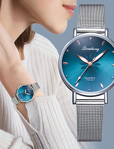 cheap 11-11 Super Sale ★ Fashionable Watches-Women's Quartz Watches Fashion Silver Stainless Steel Quartz Black White Blushing Pink Casual Watch 1 pc Analog One Year Battery Life