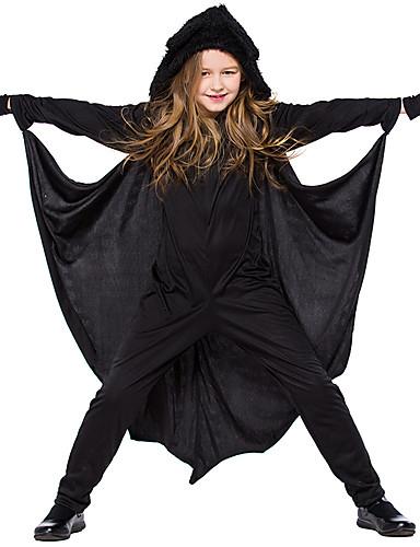 povoljno Maske i kostimi-Šišmiši Rekviziti za Noć vještica Dječji Dječaci Halloween Halloween Festival / Praznik Pletenje Crn Karneval kostime / Rukavice / Catsuit