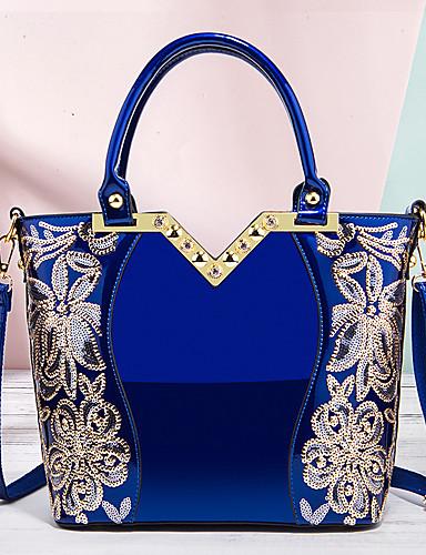 preiswerte Elegante Damen-Handtaschen-Damen Stickerei Polyester / PU Tasche mit oberem Griff Einfarbig Schwarz / Wein / Gold