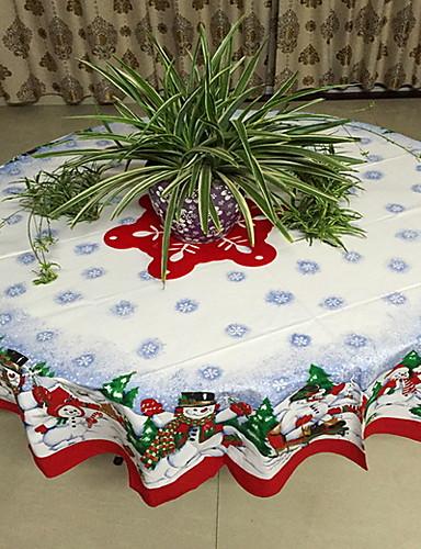 preiswerte Weihnachten Küche-Freizeit Polyesterfaser Kreisförmig Tischdecken Geometrisch Weihnachten Tischdekorationen