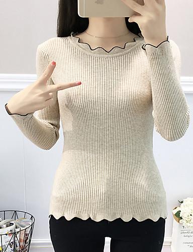 billige Dametopper-T-skjorte Dame - Ensfarget Gatemote / Elegant Svart