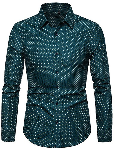 levne Pánské košile-Pánské - Puntíky Košile Fialová