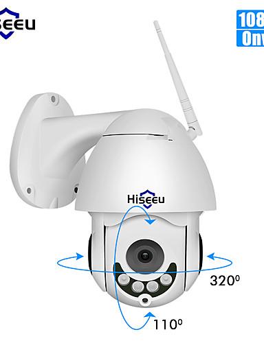 billige IP-kameraer-hiseeu 1080p ptz pan / tilt fjernkontroll ip kamera utendørs vanntett mini hastighet toveis lyd bevegelsesdeteksjon dome kamera 2mp farge nattsyn h.264 ip cctv sikkerhetskamera p2p whd712